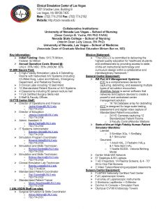 Clinical Simulation Center Info Sheet
